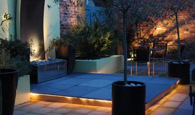 Verde sintetico floricoltura minetti - Illuminazione per terrazzi ...